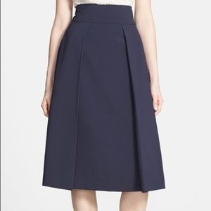 Harlowe and Graham Navy Midi Skirt - Size M (4-6)